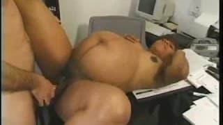 Ciężarna sekretarka jebana w biurze
