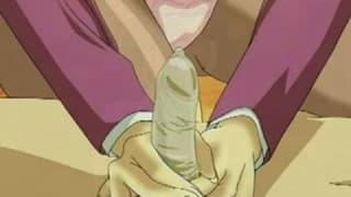 Wiązanie i bukkake w hentai