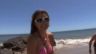 Seks w domku plaży z Allie Haze