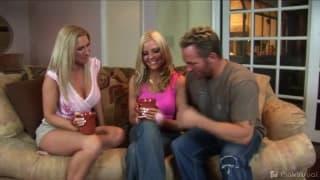 Namiętny seks z trójkącie z Barbie Love