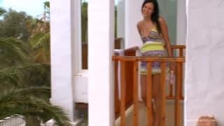 Amatorka pierdoli się na balkonie!!