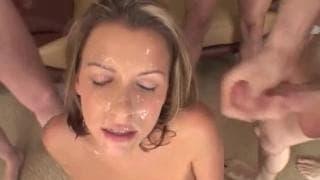 Courtney Cummz i litr spermy na twarzy