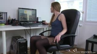 Miła przerwa podczas pacy biurowej