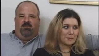 Dziwkę jebie facet a mąż na to patrzy