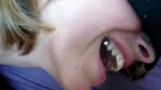 Seksi blondyna wyjebana mocno w dupę