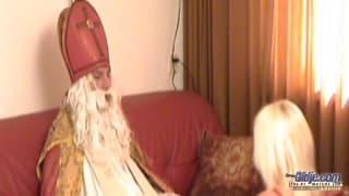 Święty Mikołaj i niegrzeczna dziwka