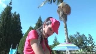 Brenda Lohan jebie faceta na dworze