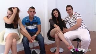 Seks w grupie dwóch hiszpańskich par!
