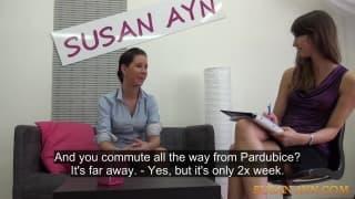 Susan Ayn i Tereza w lesbijkim kastingu