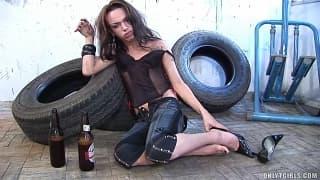 Carol Vendraminy - pijana i napalona!