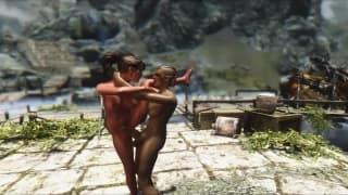 Transseksualista rżnie sie w grze video
