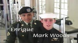 Enrique i Mark Woods, młodzi kadeci