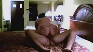 Sprośna para dojrzałych - seks w hotelu