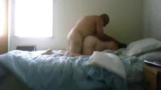 Intensywny seks dojrzałej pary kochanków